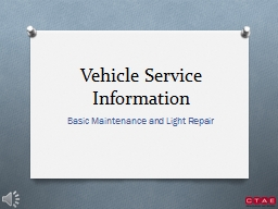 Vehicle Service Information