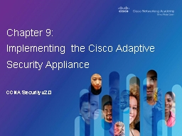CCNA Security v2.0 Chapter 9: