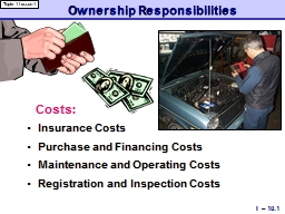 Ownership Responsibilities PowerPoint PPT Presentation