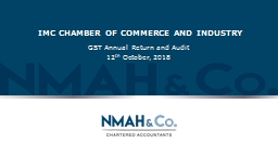 IMC CHAMBER OF COMMERCE AND INDUSTRY PowerPoint PPT Presentation