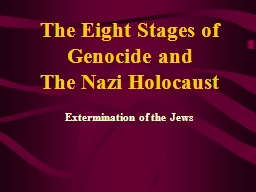 Extermination of the Jews PowerPoint PPT Presentation