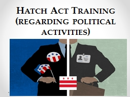 Hatch Act Training  (regarding political activities)