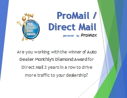 ProMail  /  Direct Mail powered by