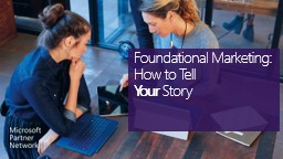 Foundational Marketing: How to Tell