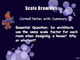 Scale Drawings Cornell Notes with Summary