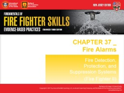 CHAPTER  37 _ Fire Alarms PowerPoint PPT Presentation