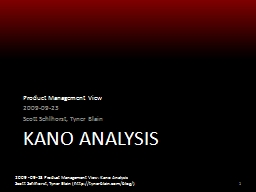 Kano Analysis Product Management View PowerPoint PPT Presentation