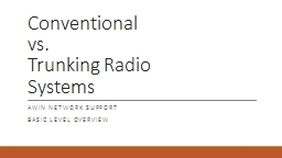 Conventional  vs.  Trunking Radio