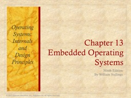 Chapter 13 Embedded Operating Systems