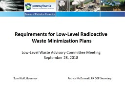 Requirements for Low-Level Radioactive