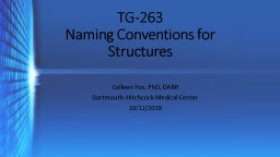 TG-263 Naming Conventions for Structures