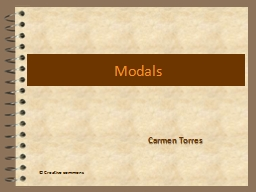 Modals Carmen Torres � Creative commons