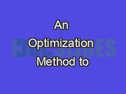 An Optimization Method to