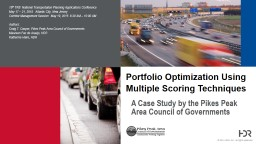 A Case Study by the Pikes Peak Area Council of Governments