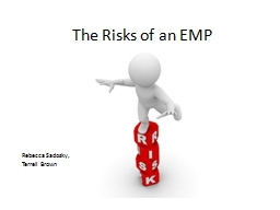 The Risks of an EMP Rebecca Sadosky,
