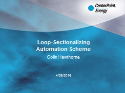 Loop-Sectionalizing  Automation Scheme
