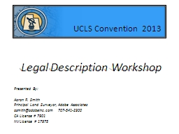 Legal Description Workshop PowerPoint PPT Presentation