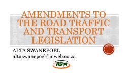 ROAD TRAFFIC REGULATIONS: