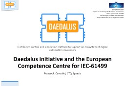 Daedalus initiative and the European Competence Centre for IEC-61499
