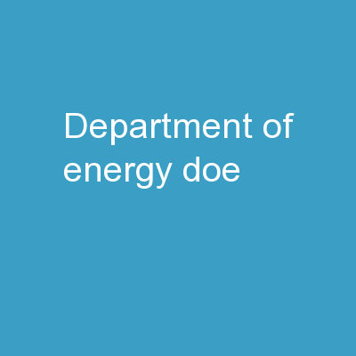 Department of Energy ( DoE