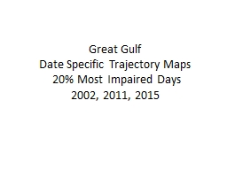 Great Gulf  Date Specific Trajectory Maps