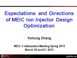 Expectations and Directions of MEIC Ion Injector Design Optimization