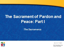 The Sacrament of Pardon and Peace: Part I PowerPoint PPT Presentation