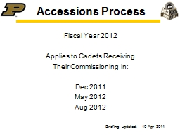 Accessions Process Fiscal