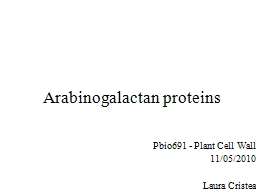 Arabinogalactan proteins