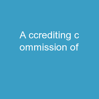 A ccrediting  C ommission of