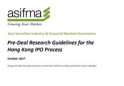 Pre-Deal Research Guidelines for the Hong Kong IPO Process