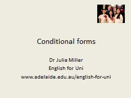 Conditional forms Dr Julia