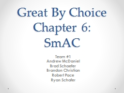 Great By Choice Chapter 6: