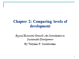 Chapter  2 :  Comparing levels of
