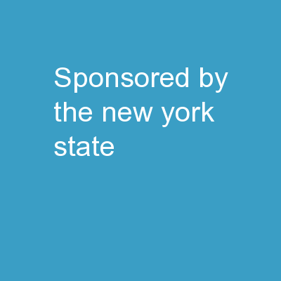 sponsored by the New York State