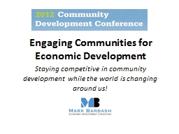 Engaging  Communities for Economic Development PowerPoint PPT Presentation