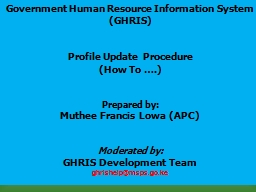 Government Human Resource Information System