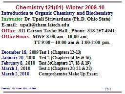 Introduction  to Organic Chemistry and Biochemistry