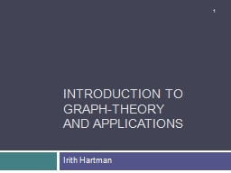 Introduction to Graph-Theory