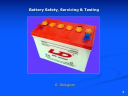 1 Battery Safety, Servicing & Testing
