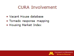 CURA Involvement Vacant House database