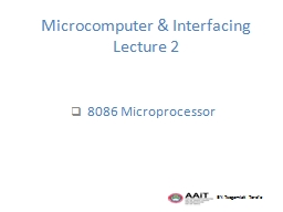 Microcomputer & Interfacing