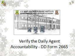 Prepare the Daily Agent Accountability