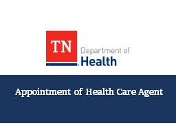 Appointment  of Health Care Agent