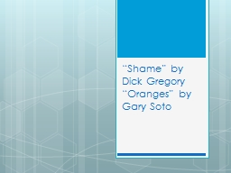 """""""Shame"""" by Dick Gregory"""