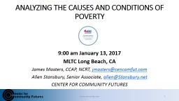 ANALYZING THE CAUSES AND CONDITIONS OF POVERTY
