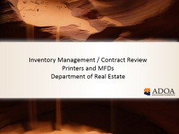 Inventory Management / Contract Review