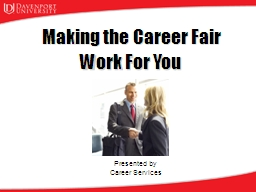 Making   the Career Fair