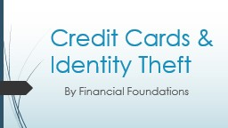 Credit Cards & Identity Theft