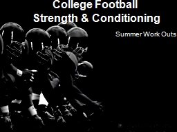 College Football  Strength & Conditioning